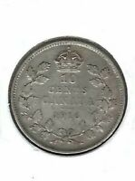 1916 Canadian Circulated Business Strike George V Silver Ten Cent Coin!