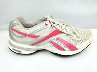 Reebok Easy Tone Womens Size 7 White Pink Lace Up Toning Shoes Walking  Running 44ca44028