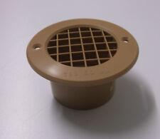 Caravan or motorhome beige plastic 75mm gas drop floor vent WCV3