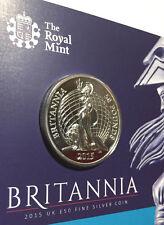 *2015 Great Britain UK Britannia £50 .999 Fine Silver Coin BU - 1st In Series*