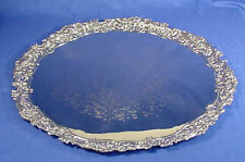 "Vintage, MASSIVE 24"" NICKEL PLATED/Silver Plated Boulton & Watt Serving Tray"