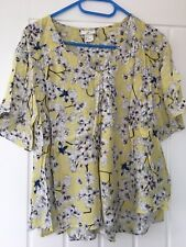 Anna Glover X H&M Yellow Print Insect Top