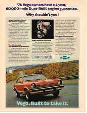 1976 Chevrolet Chevy Vega GT Red 2-door Coupe Vtg Print Ad
