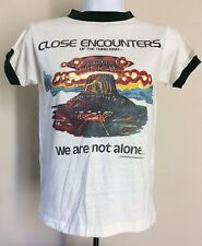 Vtg 1977 Close Encounters Of The Third Kind T-Shirt 70s Sci Fi Movie Film Promo