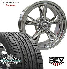 "17x7""-17x8"" POLISHED REV CLASSIC 100 WHEELS & TIRES FOR CHEVY CAMARO 1972 1973"