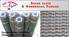 50% Fence Scaffold Mesh Shade Cloth 1.83m x 50m BLACK SHADECLOTH w/Eyelets