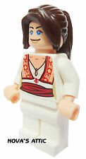 LEGO PRINCESS GIRL FEMALE LONG BROWN PONYTAIL MINIFIGURE NEW