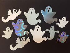 10 Die Cut Ghost Spooks Various Colours Sizzix Halloween 3-7cm cardmaking craft