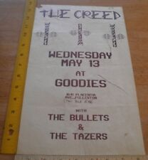 """The Creed Bullets Tazers Goodies Fullertn 1980s Punk rock concert poster 8.5x14"""""""