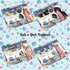 Rub a Dub Dog Cat in a Tub Refrigerator Magnet, Pet Photo Lovers Gift