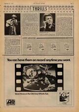 Yes Steve Howe UK LP TV advert 1975