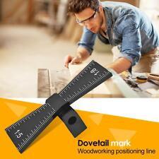 Aluminum Alloy Hand Cut Scale Wood Joints Gauge Dovetail Marking Gauge Template