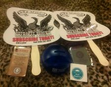 Cherokee Collectables Lot Hand Fans, Screen Cleaner, Magnet, Bank and Sticker