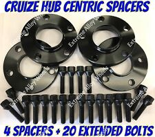 Alloy Wheel Spacers 25mm x 4 Audi A3 A4 B4 B5 B6 B7 A6 Black Cruize 5x112 57.1
