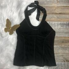Bebe Black Halter Top Large