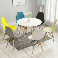 Dining Chairs Table Solid Wood Legs Retro Lounge Plastic Home Office Chair 1/2/4