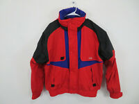 Vintage Retro 1980's CB Sports Ski Athletic Jacket Red Mens Size Medium
