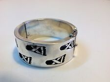 Antique original Mexican jewelry Mexico sterling silver bracelet (m1799)
