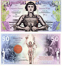 FRANCE 50 Francs Fun-Fantasy ART Note 2019 Currency Legend Series Joan of Arc