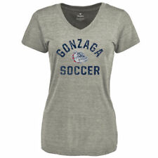 Women's  Branded Heathered Gray Gonzaga Bulldogs Distressed Soccer M