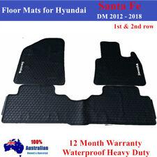 Heavy Duty Car Floor Mats Tailored for Hyundai Santa Fe 2012- 2018 1st & 2nd row