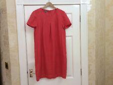 Laura Ashley Linen Shift Dress Cotton Lined Uk 14 (h) Pink