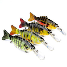 4 Colors Hard Multi Jointed Lure Lifelike Fishing Bait Swimbait Crank Pike 4.4in