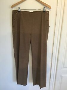 Laura Ashley Camel Wool Trousers Size 14