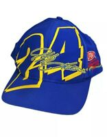Jeff Gordon NASCAR Snapback Hat Dupont ReFinish Racing Yellow Blue Cap #24