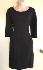 COUNTRY ROAD Winter Weight Black Zipper & Pockets Dress Elbow Sleeves sz L