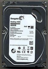 Seagate Barracuda ST3000DM001 3TB 7200 RPM 64MB SATA PN:1ER166-300 FW CC43 TK