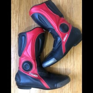 Dainese Ducati Leather Motorcycle Boots Men's size EU 46 US 12.5