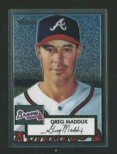 2001 Topps Heritage Chrome Greg Maddux Braves Rare Parallel Sp 175/552 Hot! JC