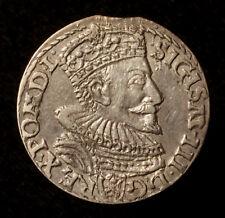 Sigismund III., Dreigröscher 1593 Marienburg, R!