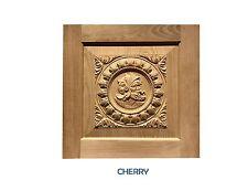 "Cabinet door / panel Knight profile. 17"" x 17"" Cherry, Mahogany"