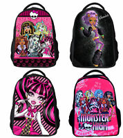 16'' Monster High Girl Kids Shoulder Bag Backpack School Bags Birthday Black Red