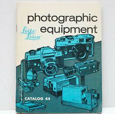 Leitz Leica Photographic Equipment Catalog 44 Sales Price Book 1970s