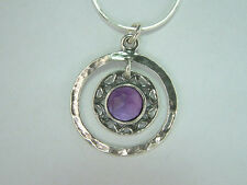 Genuine SHABLOOL ISRAEL Didae Handcrafted Amethyst Sterling Silver 925 Necklace