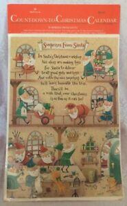 VTG HALLMARK Advent Calendar, Surprises From Santa, Christmas Elves, NIP