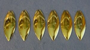 Lot of 6 Worth Mfg #5 Gold Polished Finish Willow Leaf Spinnerbait Blades
