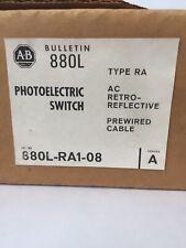 ALLEN BRADLEY 880L-RA1-08 PHOTOELECTRIC SWITCH TYPE RA AC RETRO-REFLECTIVE