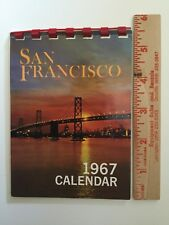 Vintage 1967 San Francisco Pocket Size Calendar Cable Cars Fisherman's Wharf