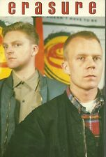 Erasure postcard 15x10 cms,like new.Andy Bell & Vince Clarke.Depeche Mode.Yazoo.
