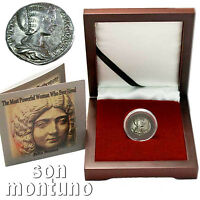 JULIA DOMNA SILVER DENARIUS - Ancient Roman Coin in Display Box + COA 196-211 AD