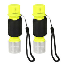 2PCS Diving Underwater 5000LM 50M Waterproof Lamp T6 LED Scuba Torch Flashlight