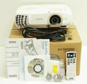 Used EH-TW5200 EPSON dreamio Full HD 1080p 3LCD 3D Home Cinema Gaming Projector