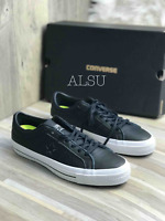 Sneakers Men's Converse One Star Leather Low Top Black Black 153714C