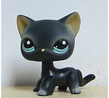 Littlest Pet Shop 994 Black Cat Kitty Siamese Short Hair Blue Eyes Lps From Usa