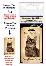Tabby Brown Cat Baggage Buddies Luggage Tag