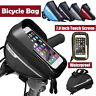 Waterproof MTB Bike Touch Screen Phone Bag Bicycle Front Frame Top Tube Pannier